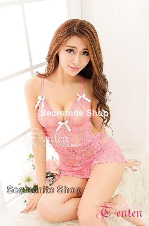 Sun @ Sexy Pink Babydoll Lingerie with G-string S-1365