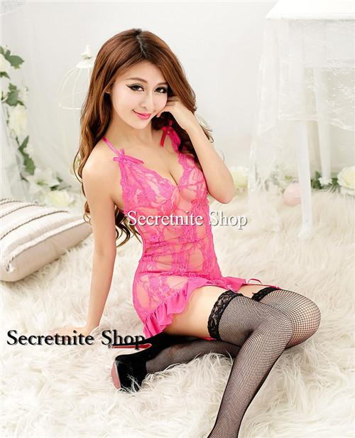 Sun @ Sexy Pink Babydoll Lingerie with G-string S-1427