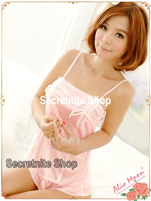 Sun@ Sexy Pink Babydoll Lingerie with G-string S-743