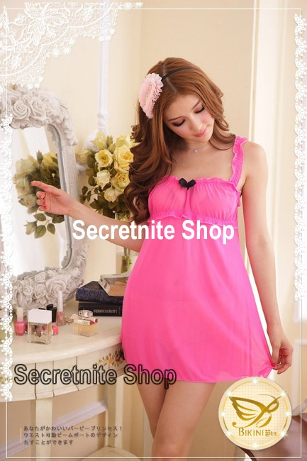 Sun@ Sexy Pink Babydoll Lingerie with G-string S-779