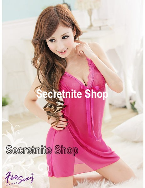 Sun@ Sexy Pink Babydoll Lingerie with G-string S-810