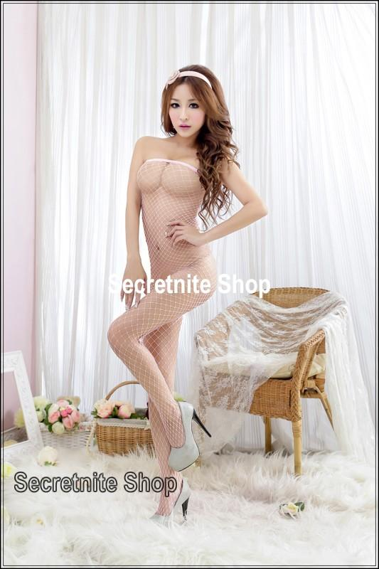 Sun @ Sexy Pink Bodystocking Lingerie BS-137