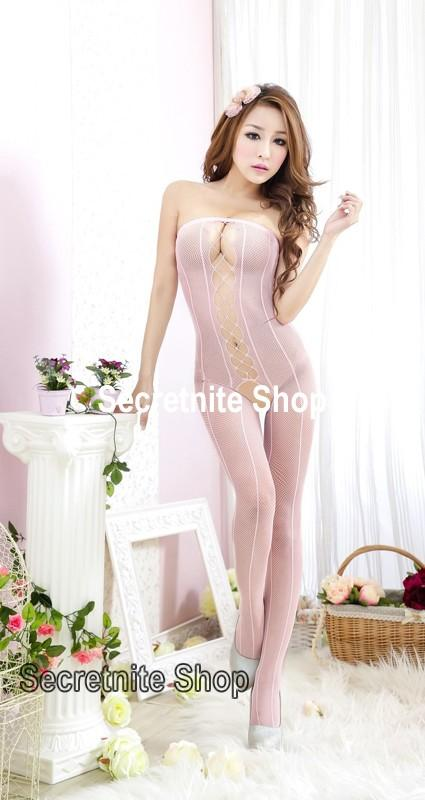 Sun @ Sexy Pink Bodystocking Lingerie BS-150