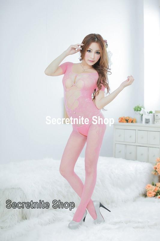 Sun @ Sexy Pink Bodystocking Lingerie BS-156