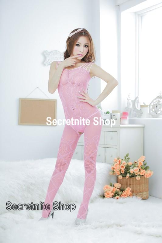 Sun @ Sexy Pink Bodystocking Lingerie BS-195