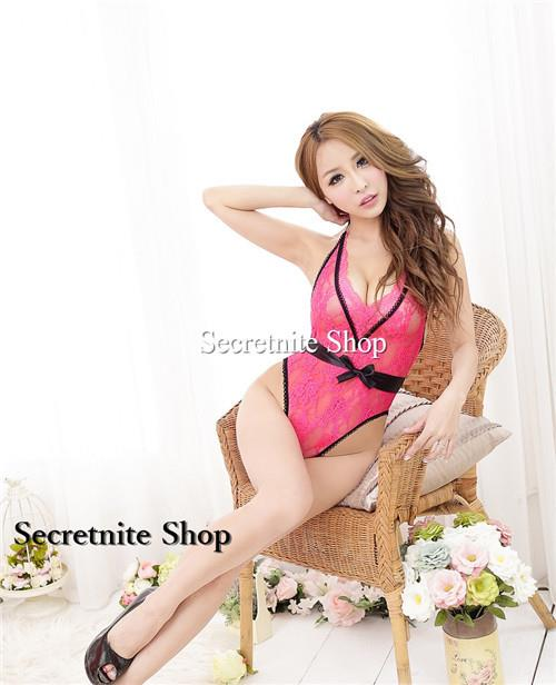 Sun @ Sexy Pink Teddy Lingerie S-1421