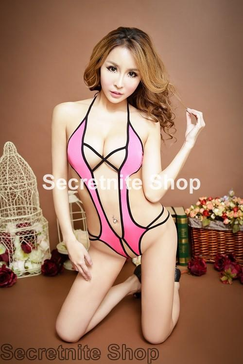 Sun @ Sexy Pink Teddy Lingerie S-1518
