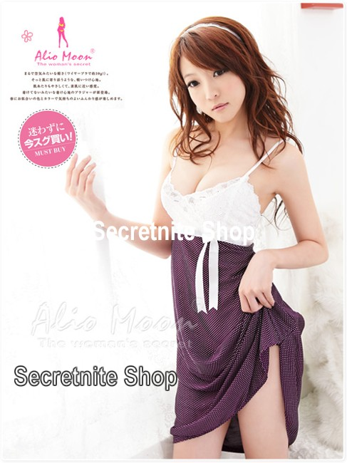 Sun@ Sexy Purple Babydoll with G-string S-346