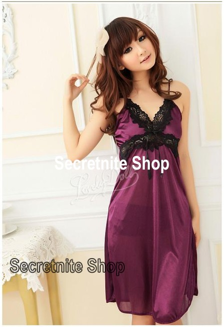 Sun@ Sexy Purple Babydoll with G-string S-630