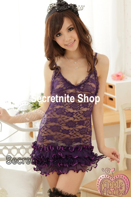 Sun@ Sexy Purple Babydoll with G-string S-635