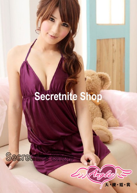 Sun@ Sexy Purple Babydoll Lingerie with G-string S-739