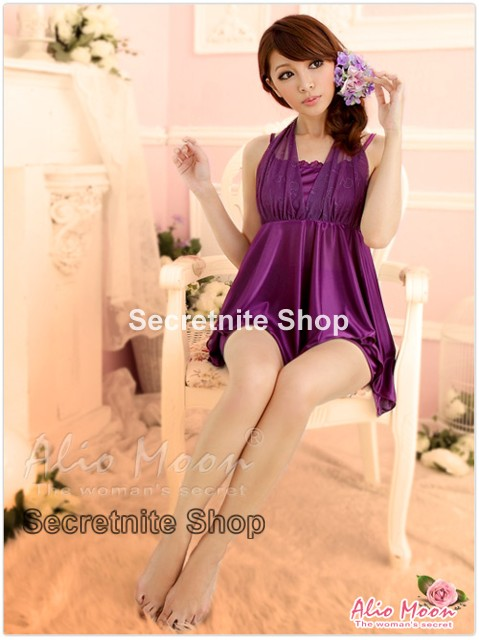 Sun @ Sexy Purple Chemise Lingerie with Panty S-1023