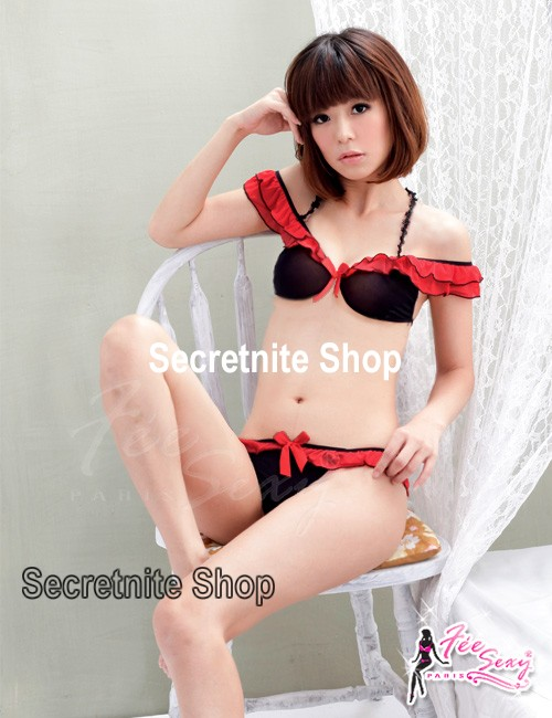 Sun@ Sexy Red Bra Set with Stocking S-692