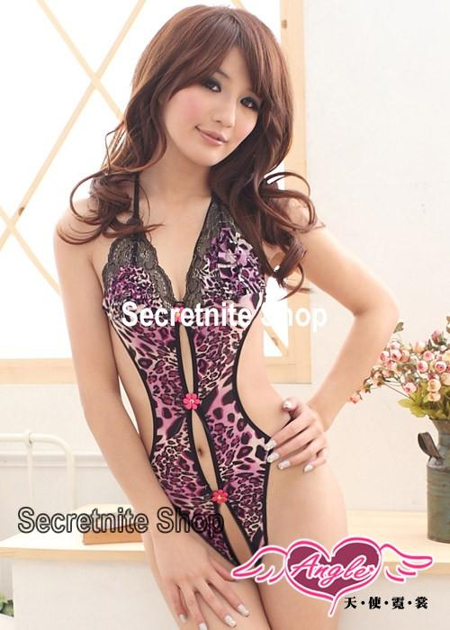 Sun @ Sexy Red Leopard Teddy Lingerie S-1373