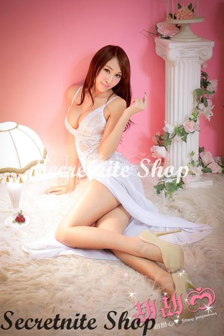Sun @ Sexy White Babydoll with G-string S-1197