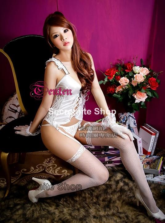 Sun@ Sexy White Corset with G-string S-768