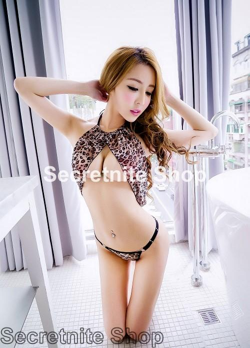 Sun @ Sexy Yellow Leopard Teddy Lingerie S-1512