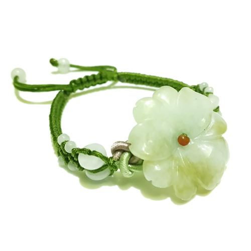 The Sunflower Jade Bracelet - Green