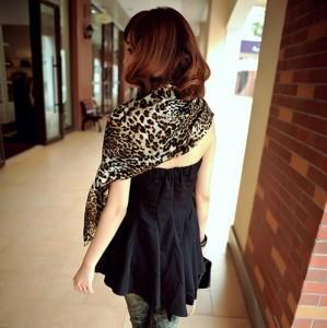 Super Big High Quality Leopard Pattern Scarf/Shawl