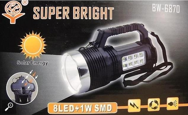 Super Bright Rechargeable Solar Emergency Torch Light
