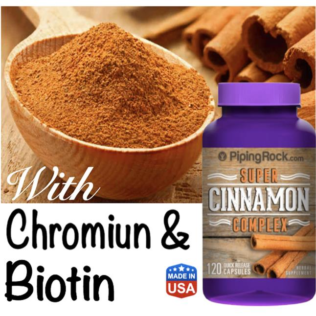 Super Cinnamon Complex with Chromium and Biotin, (Blood Pressure)