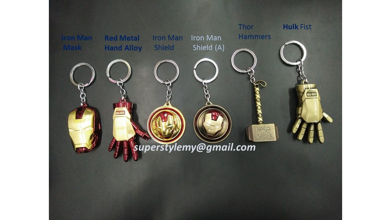 SUPER HERO METAL KEYCHAINS MARVEL