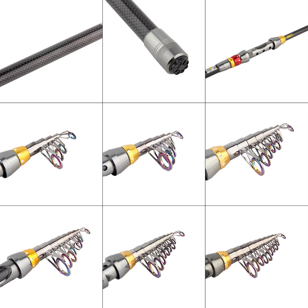 Super Light Carbon Telescopic Pole Saltwater Casting Sea Fishing Rods