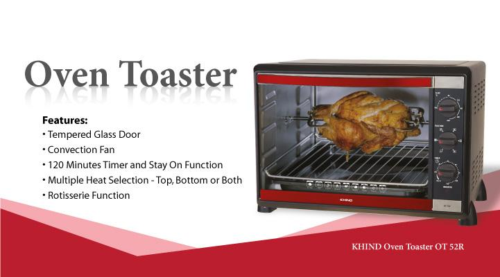 [SUPER PROMO] KHIND 52L OVEN TOASTER OT52R 2 YEARS WARRANTY