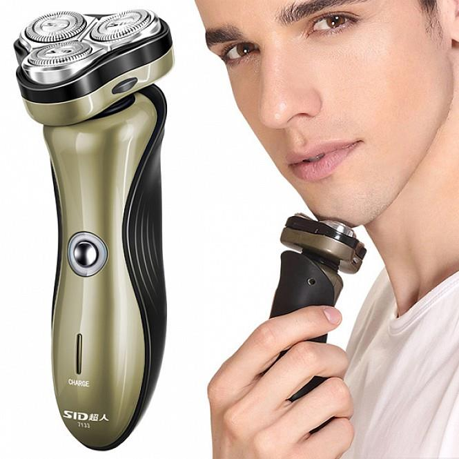 Super Rotary 3 Heads Rechargeable Electric 3D Shaver