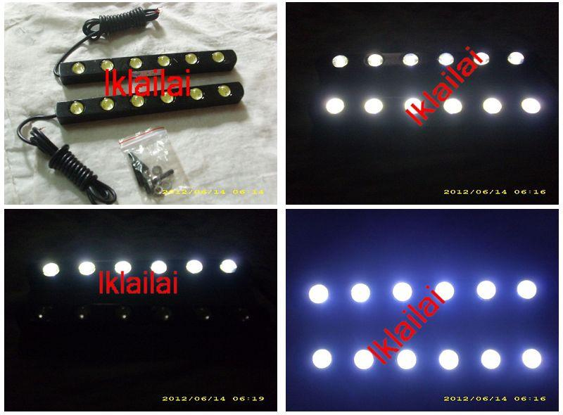 Super White 6000K 6-LED Daytime Running Light DRL