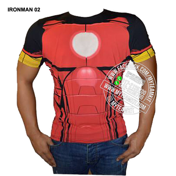 Superheroes Iron Man Dri-Fit Digital Print T-shirt