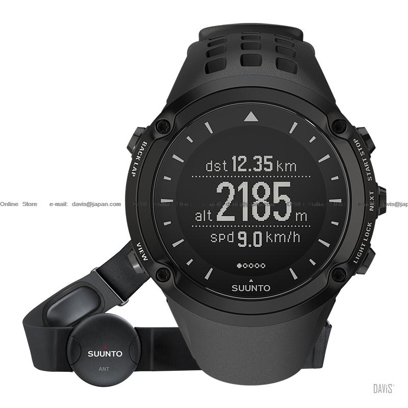 Suunto Ambit Black (HR) w/belt - U- Outdoor Sports HRM GPS *Free bag*