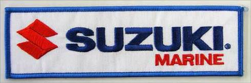 SUZUKI MARINE OUTBOARD EMBROIDERED PATCH