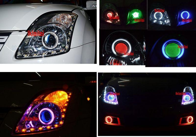 SUZUKI SWIFT '05 Projector Head Lamp Colour CCF+Angel Eye+L Style DRL