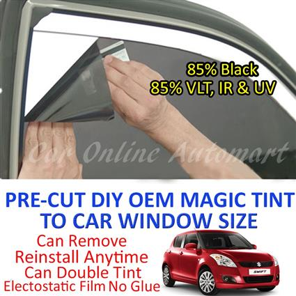 Suzuki Swift 2008 - 2012 Magic Tinted Solar Window ( 4 Windows & Rear