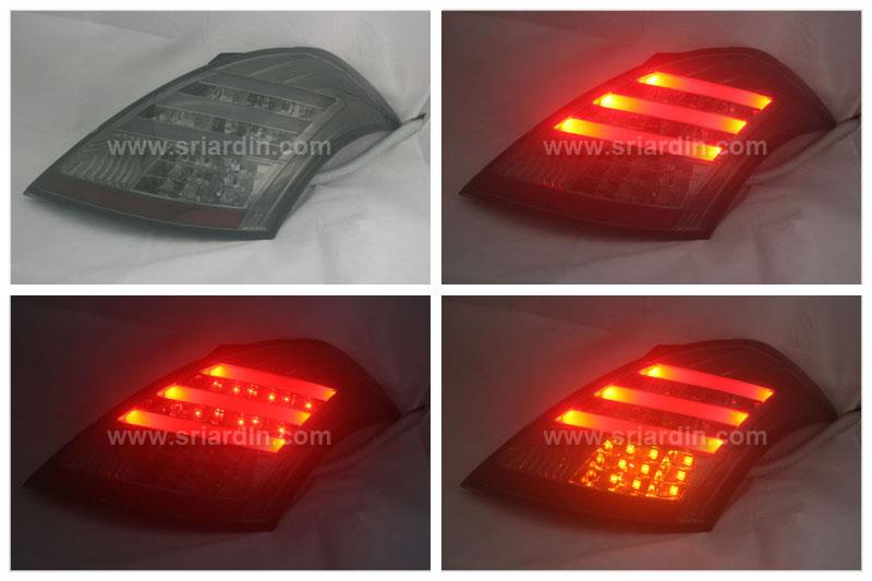 Suzuki Swift 2013 Full Smoke Light Bar LED Tail Lamp