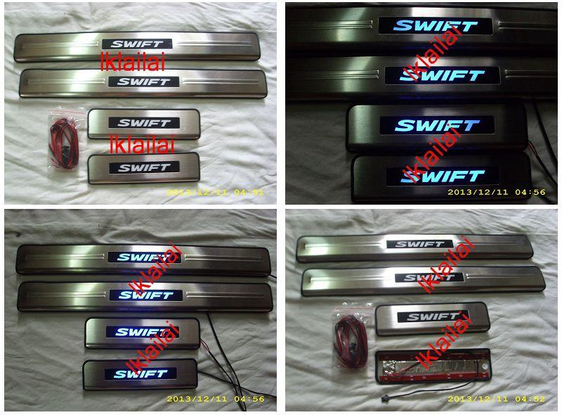 Suzuki Swift Door / Side Sill Plate With LED Light [4pcs/set]
