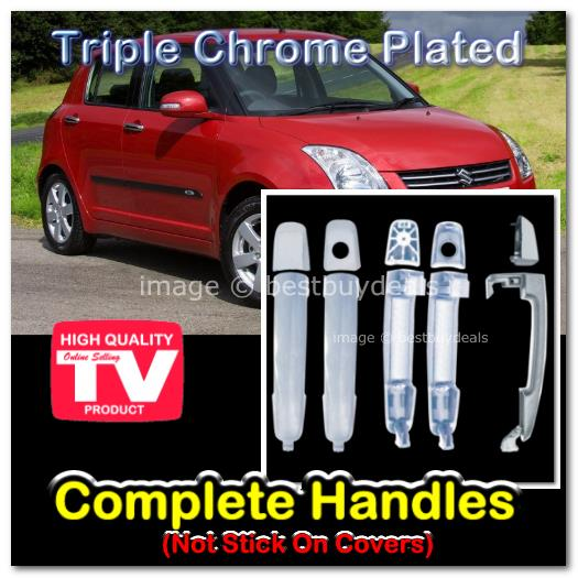Suzuki Swift SX4 SX-4 Chrome Door Handle Cover Trim Overlays Rings Bez