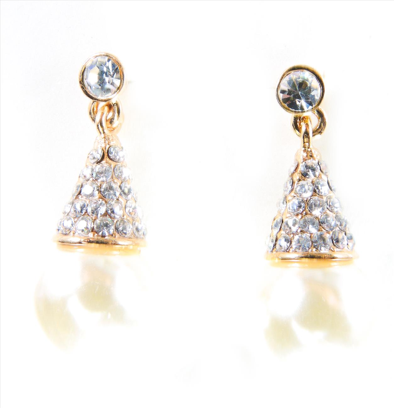 SWAROVSKI Earring 18K white gold plated with Crystal Pearl