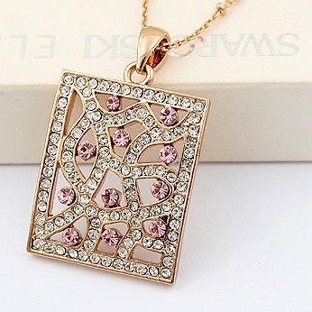 Swarovski Elements Colored Glaze Window Crystal Pendant