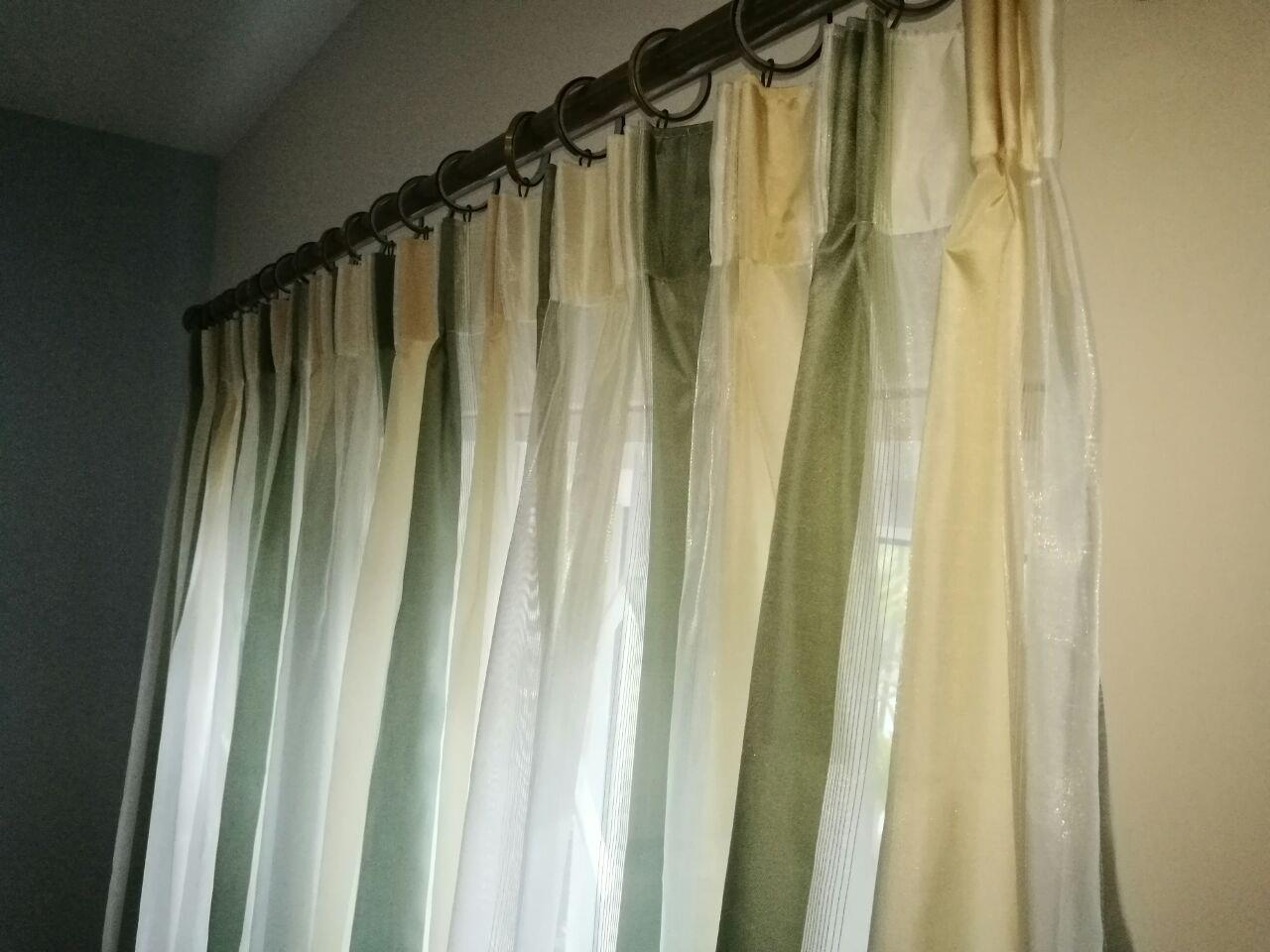 Sweet AD Green lace curtains 4 ft FP