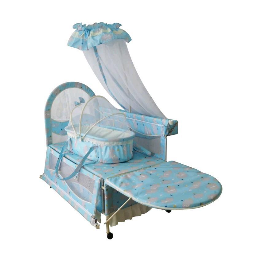 Sweet Heart Paris Baby Cot 118 Blue