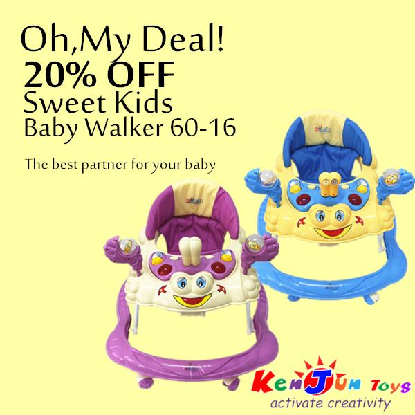 Sweet Kids Baby Walker- 60-16 Purple