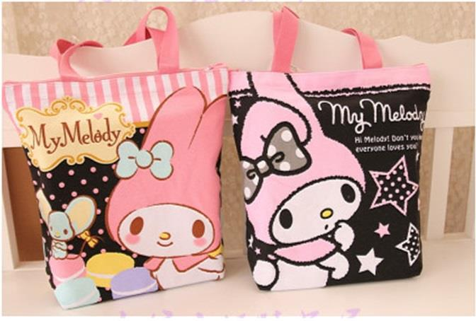 Sweet Melody Colorful Print Canvas Tote Bag Ready Stock
