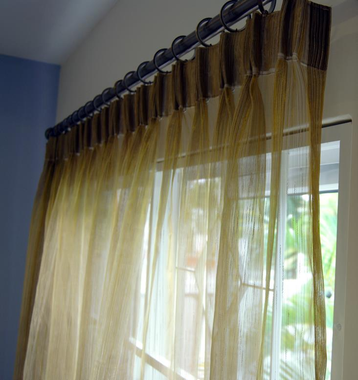 Sweet ZR Light Brown lace curtains 4 ft FP