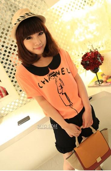 Sweety Baby-Collar 'Channel' Blouse (Orange)