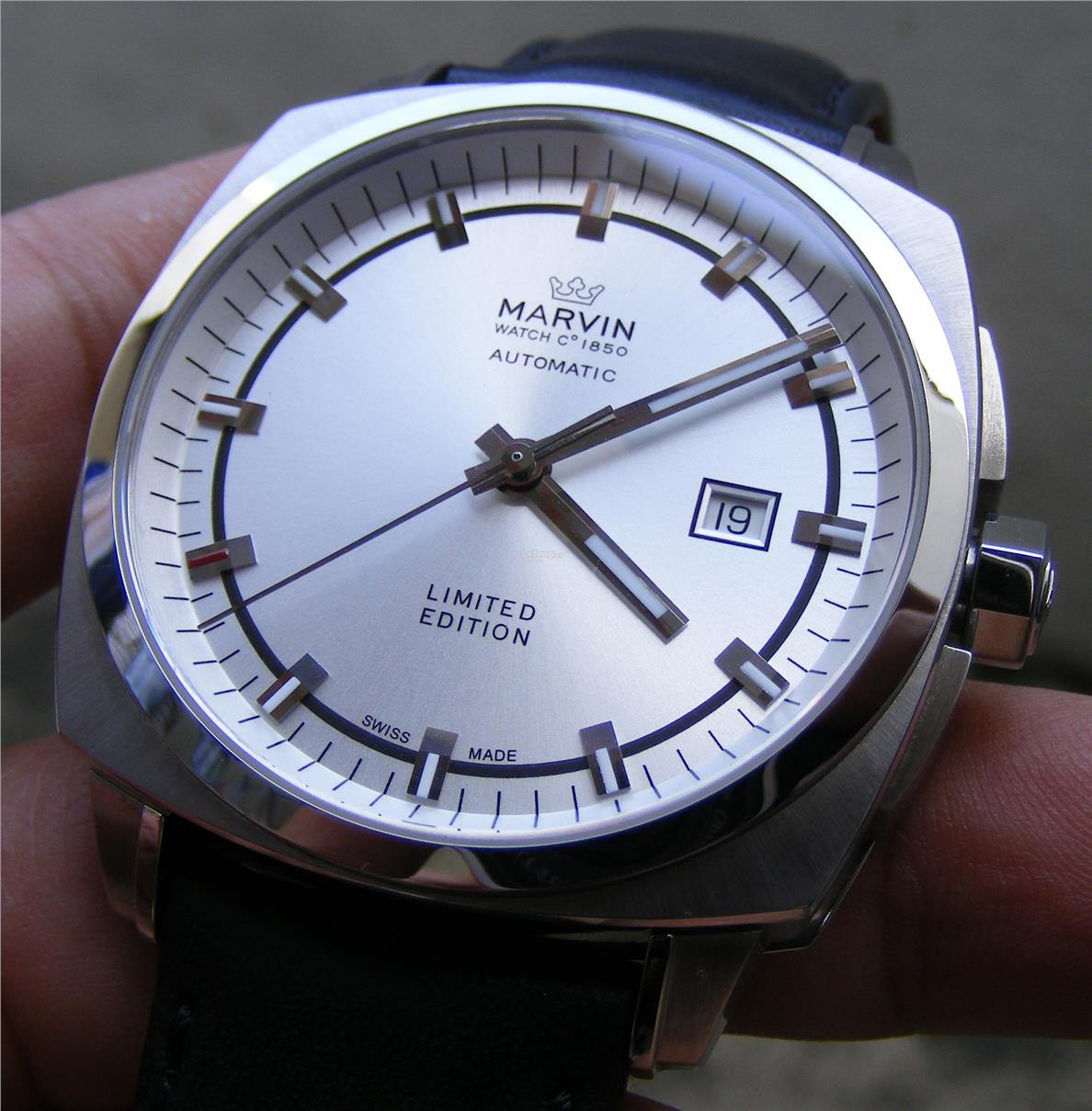 Swiss Made Marvin Cushion Limited Edition Automatic Watch (M120-13)