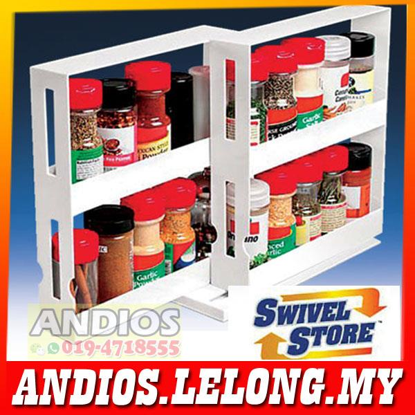 SWIVEL STORE Space Saving Organizer.As Seen On Tv.Household.Dapur Rak