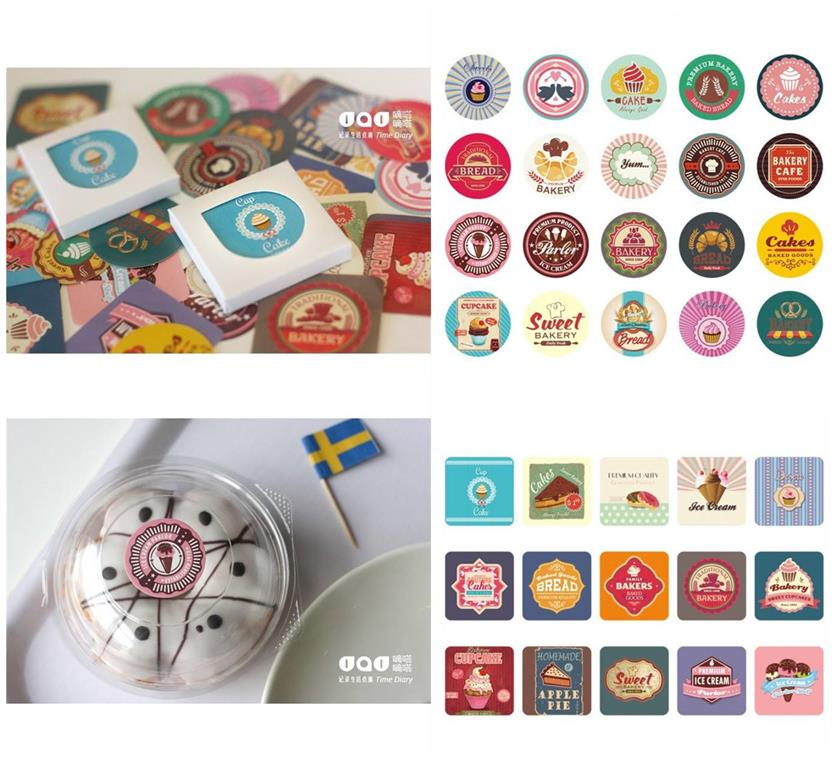 SY0106 BAKERY THEME STICKER SET 38PCS