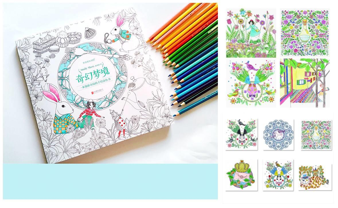 SY0115 SECRET GARDEN ALICE STORY COLORING BOOK Kedah End